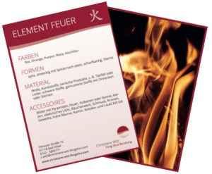 Element Feuer Sammelkarte von Christiane Witt - Feng Shui Beratung