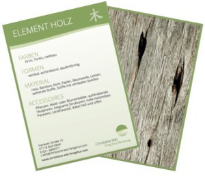 Element Holz Sammelkarte