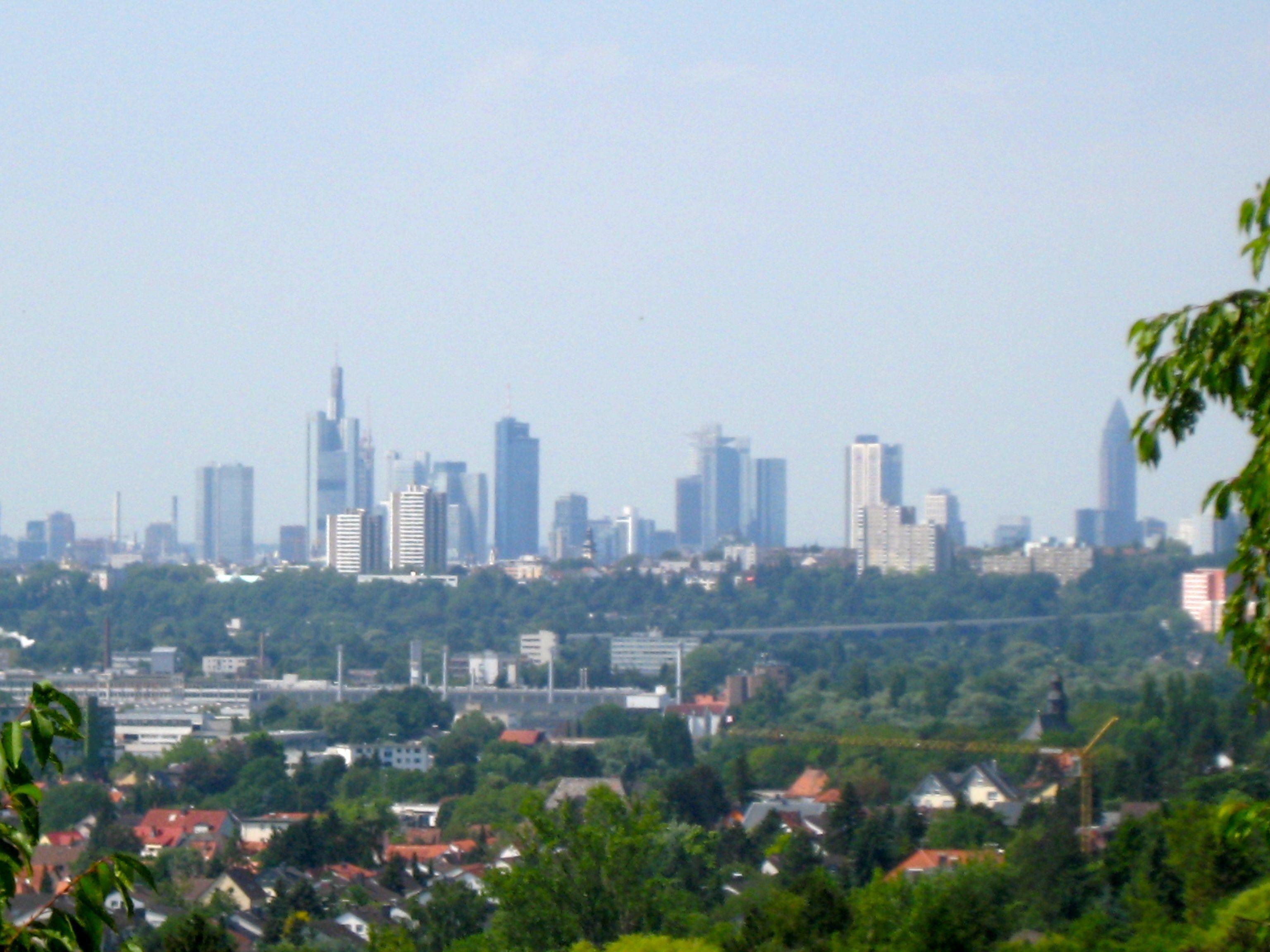 Skyline von Frankfurt am Main von Christiane Witt - Feng Shui Beratung