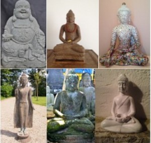 Buddha Collage von Christiane Witt - Feng Shui Beratung