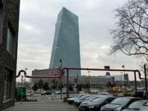 das neue EZB Gebäude in Frankfurt am Main