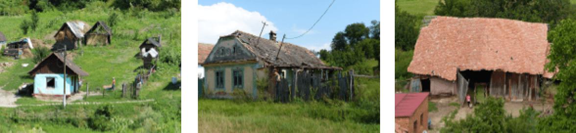 zerfallene Häuser