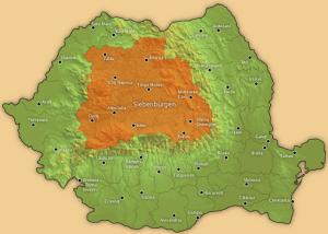 Siebenbürgen Landkarte