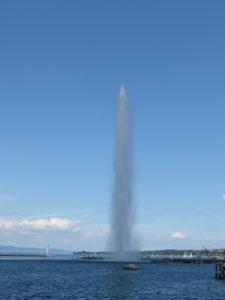 Element Wasser: Wasserfontaine Genf von Christiane Witt - Feng Shui Beratung