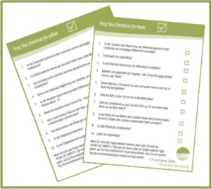 Kostenlose Feng Shui Checkliste für den Innen- und Außenbereich von Christiane Witt