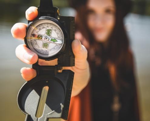kleiner magnetischer Kompass - Christiane Witt - Feng Shui Beratung